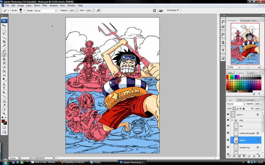 One Piece Fishin in prog.. by l3xxybaby