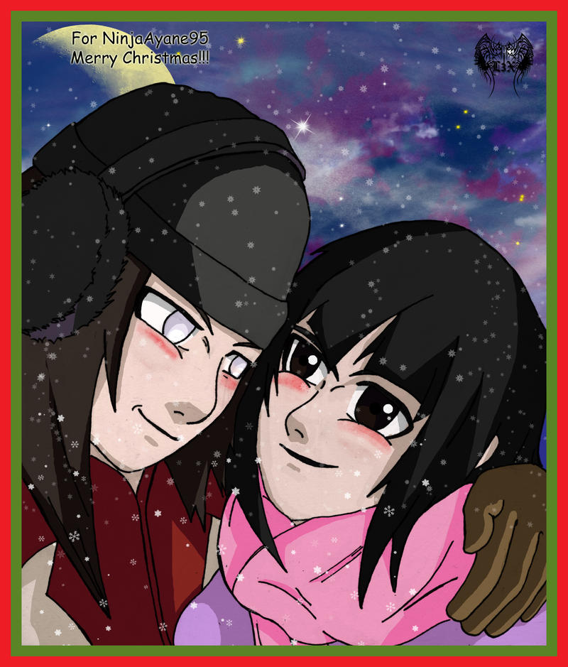 Neji + Mio Christmas Request by l3xxybaby