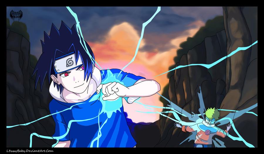 Naruto Vs Sasuke-Clash by l3xxybaby