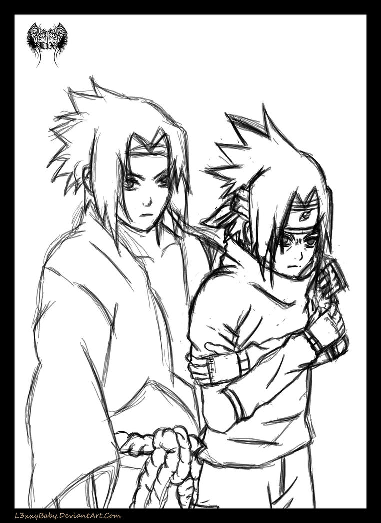 Sasuke Collab Sketch by l3xxybaby