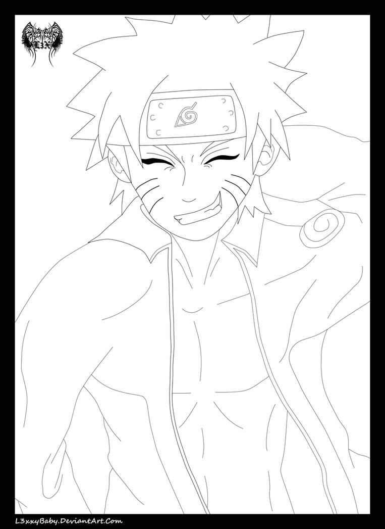 Naruto Fanservice Lineart by l3xxybaby