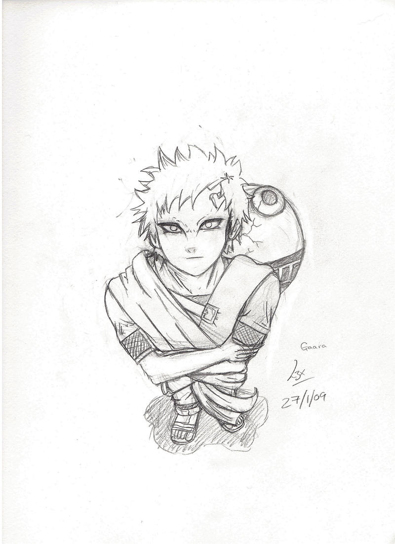 Gaara Perspective Sketch by l3xxybaby