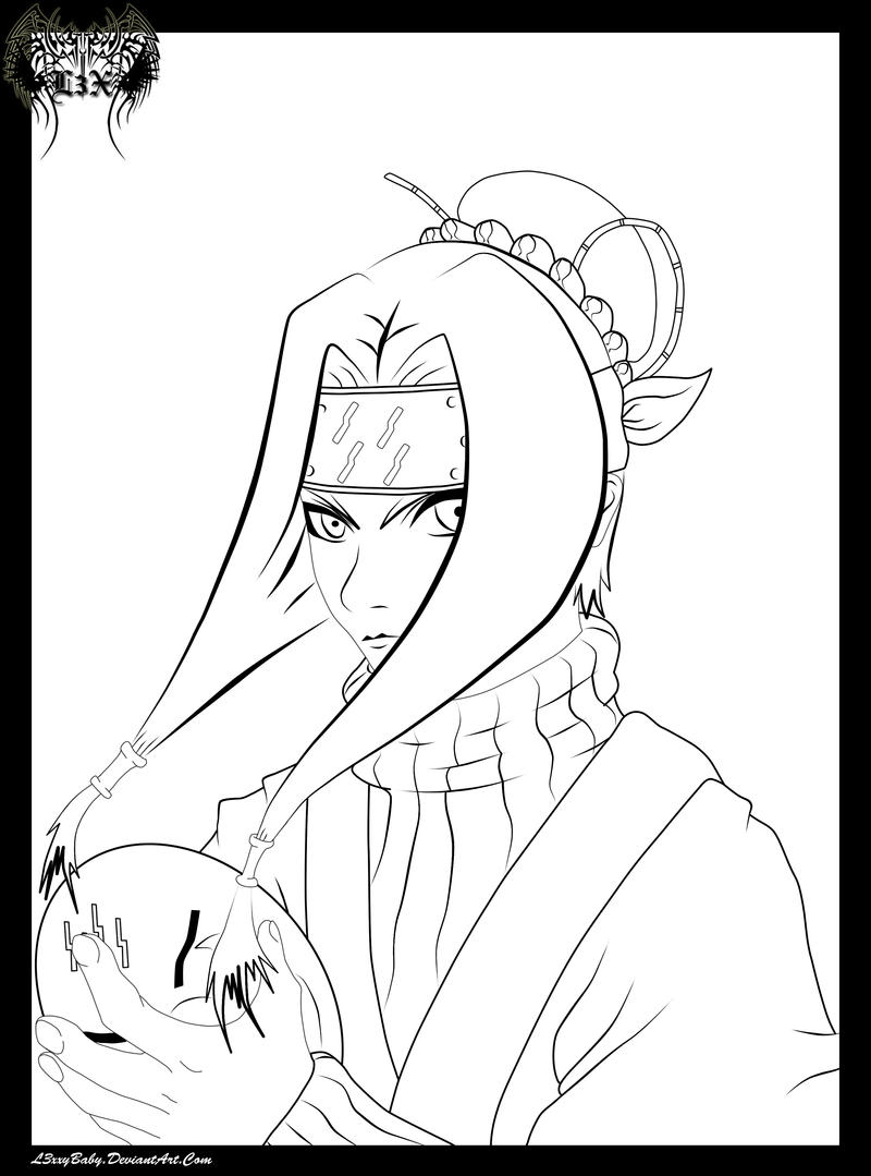 Haku Lineart by l3xxybaby