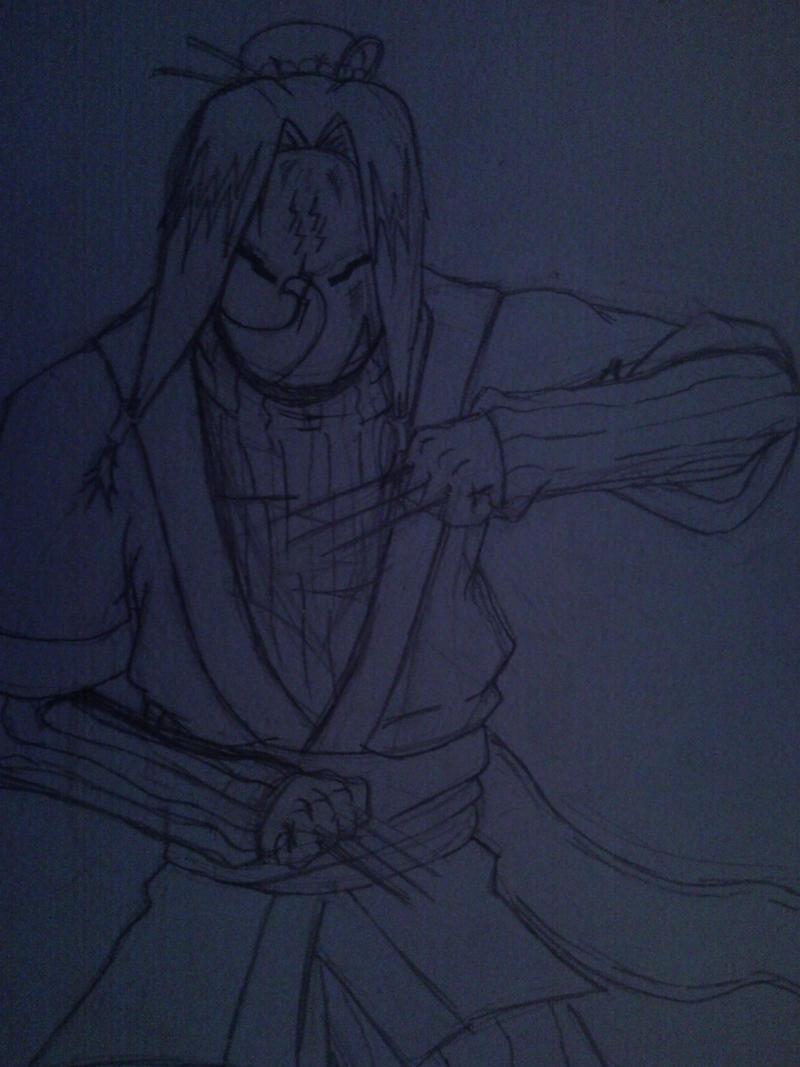 Haku Mask Sketch by l3xxybaby