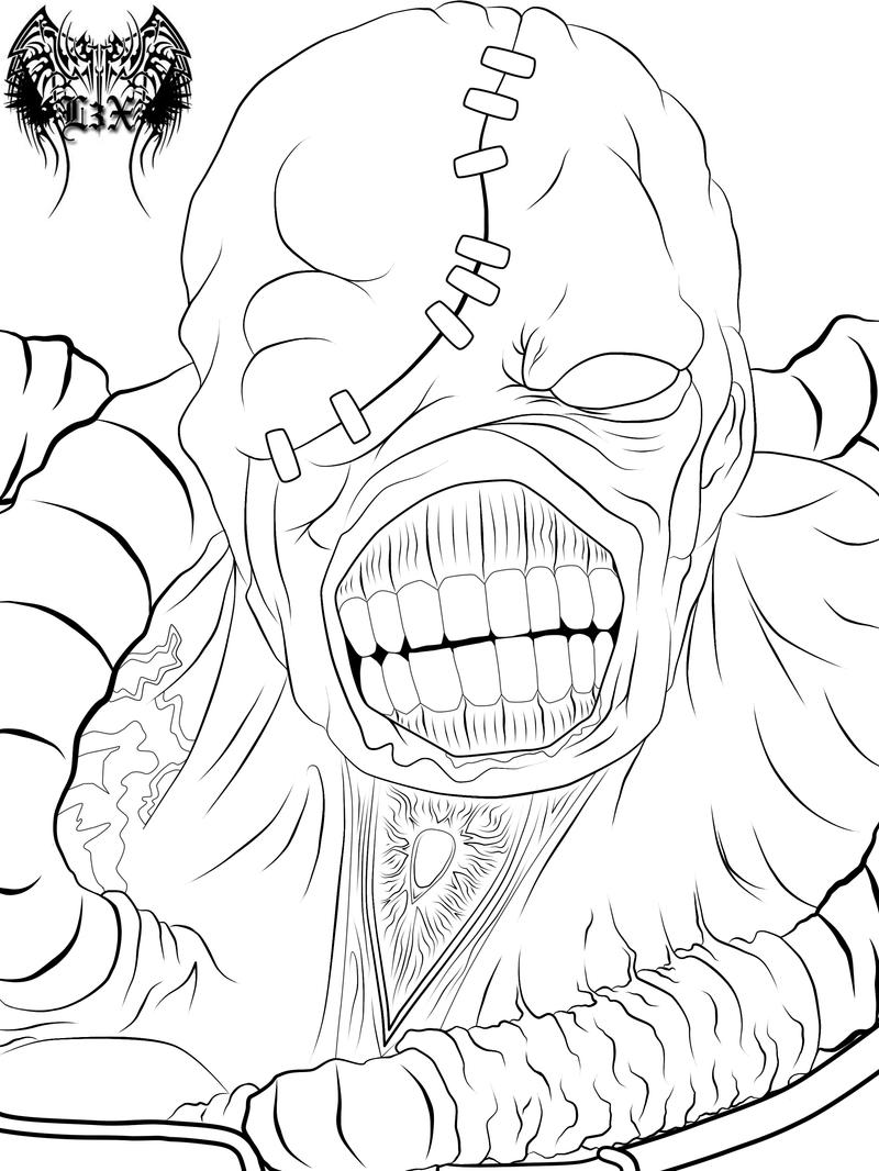 NEMESIS Lineart by l3xxybaby