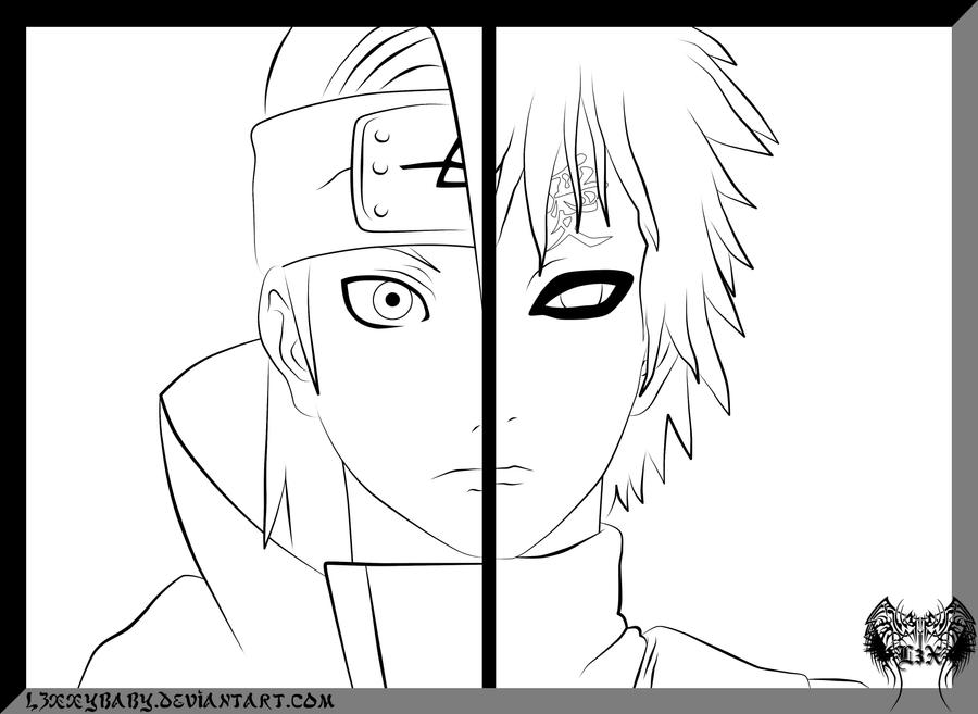 gaara coloring pages - photo#18