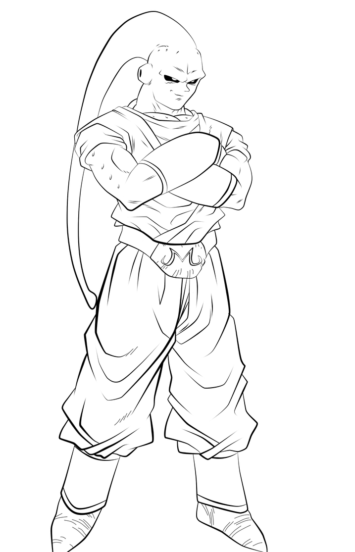 Super Buuhan Lineart by l3xxybaby