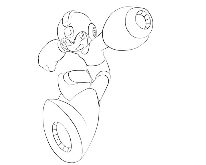 Megaman Lineart by l3xxybaby