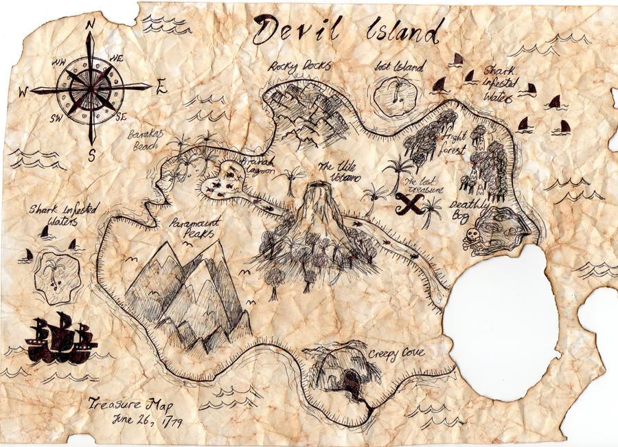 Treasure Map - Devil Island