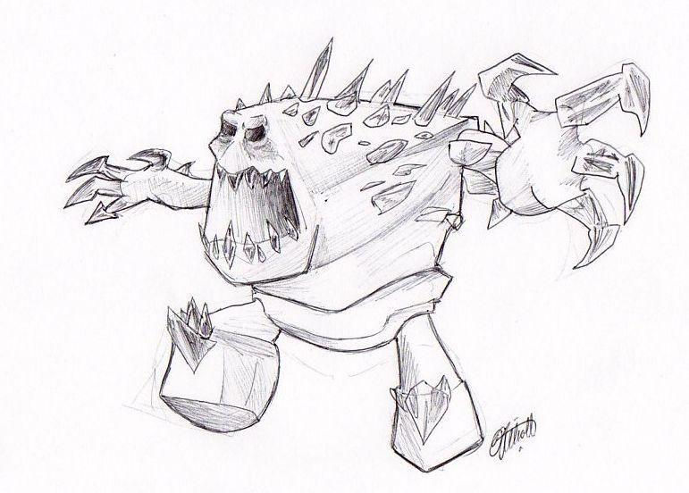Marshmallow Frozen - Rough Sketch by DNOStallone on DeviantArt