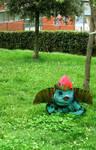 real life pokemon: Ivysaur on my garden