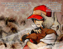 Red and Cubone by badafra