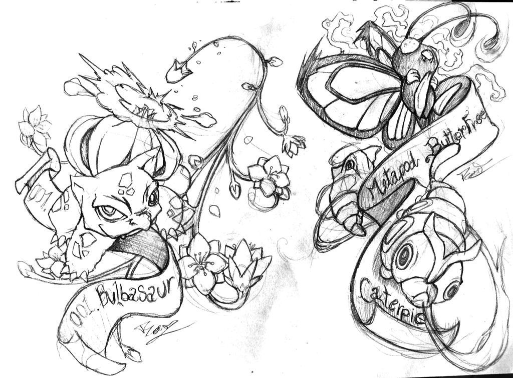 Pokemon Tattoo Old School By Badafra On DeviantArt