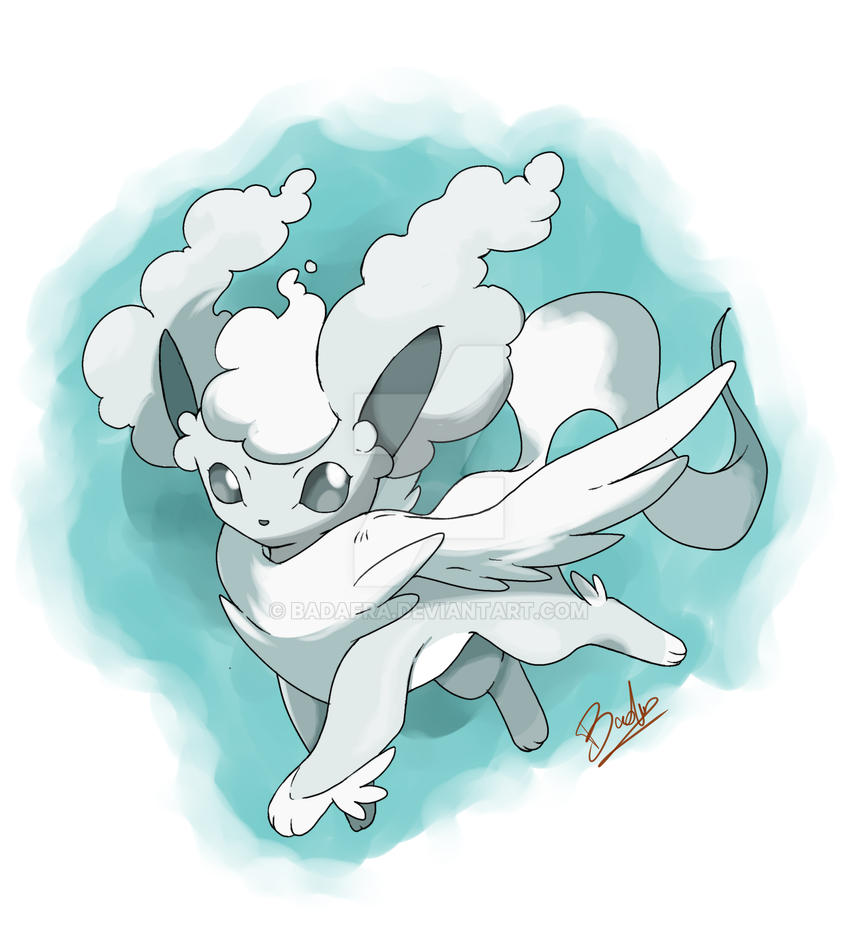 Vuestros 'Fakémon' preferidos - Página 4 Eevee_flying_type_fakeevolution___cloudeon_by_badafra-d9omsd5