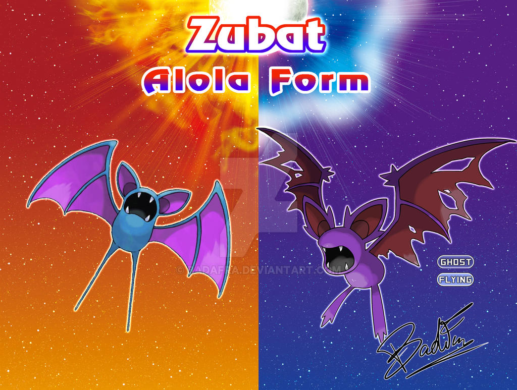 Fakemon Alola Form - Zubat by badafra on DeviantArt
