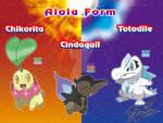 Chikorita Cyndaquil and Totodile  Alola form