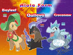 Bayleef Quilava and Croconaw Alola Form