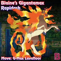 Gigantamax Rapidash by badafra