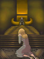 Sigyn at Odin's Throne by StarrySigyn