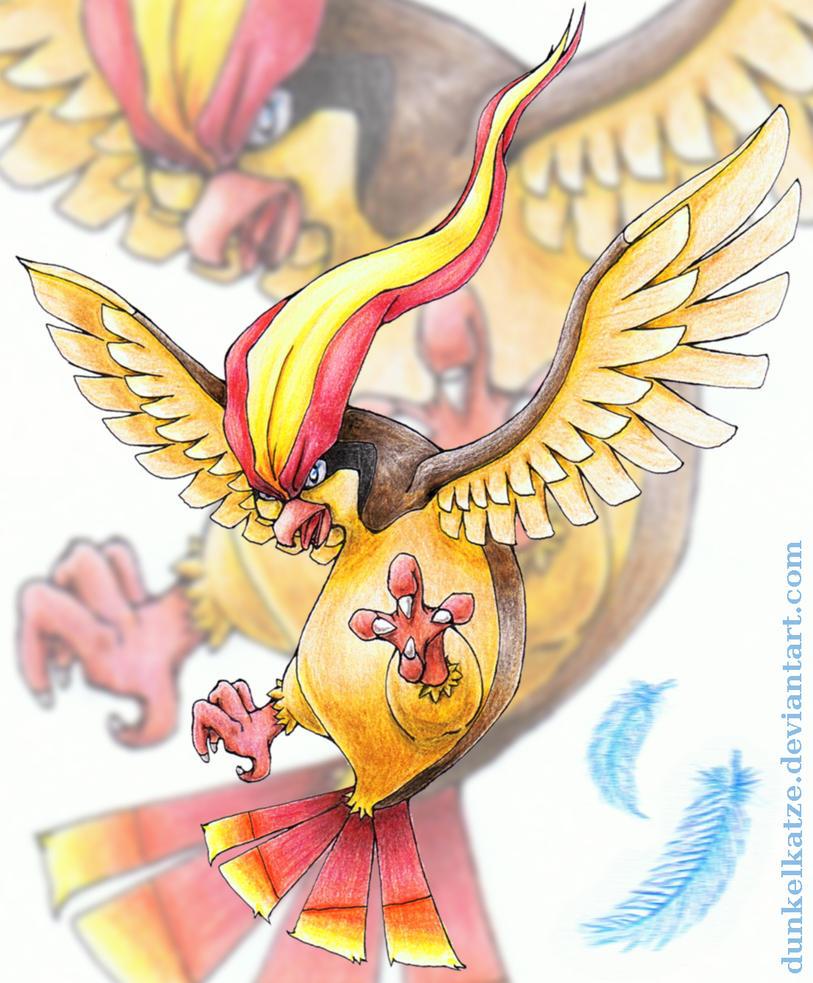 Pidgeot Commish by Dunkelkatze