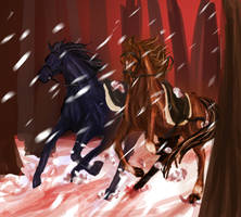 Across The Stained Snow - War Horse by bertalina