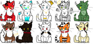 10/10 monster/fantasy kittens for sale! (8/10 open by Xxwhitewolf-lonerxX