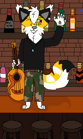 Playing Guitar In A Bar by Xxwhitewolf-lonerxX