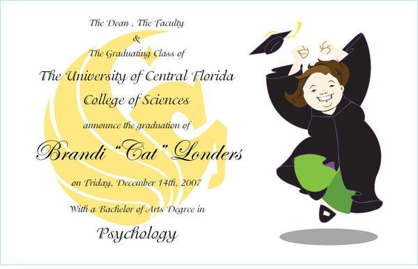 Graduation Announcement by BrowncoatFiction