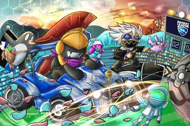 Monstercat x Rocket League by KarmaMoonshadow