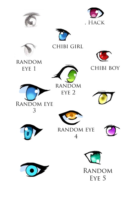 Basic Anime Eyes by kingdom-anime
