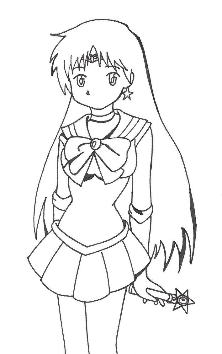 Sailor mars by kingdom anime on deviantart for Sailor mars coloring pages