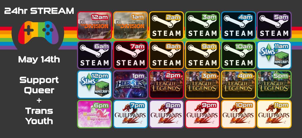 Queer Gamers Streaming Schedule by Daikiraikimi