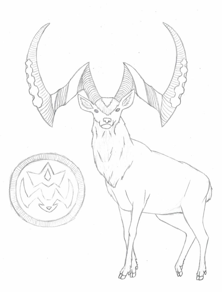 Goat-Deer by Daikiraikimi