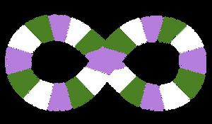 Autism Symbol Segmented Genderqueer Colors
