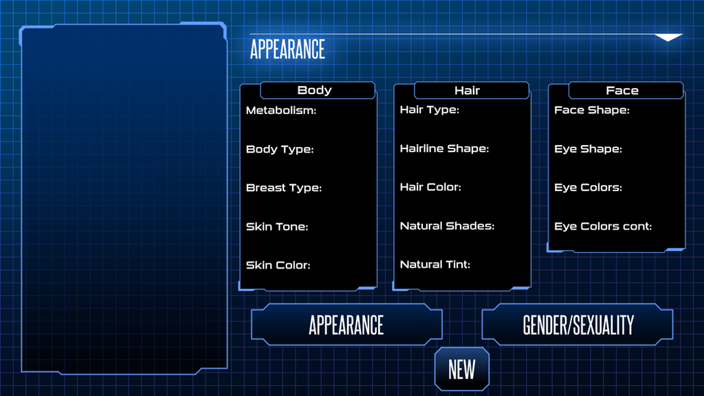 Character Generator Screen by noeinan