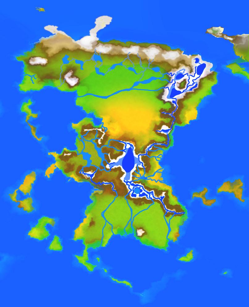 Crimson Rue: Main Continent Map by noeinan