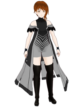 Vroid Noeinan Greyscale Outfit