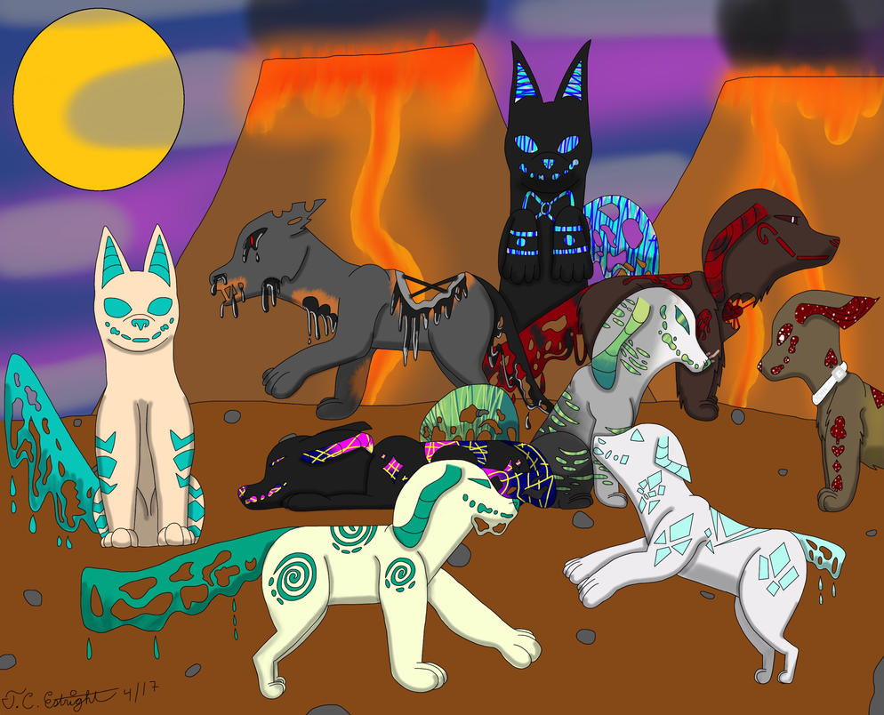 A group of Magmutts by SterlingSilver46