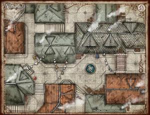 The Alleyways Battlemap