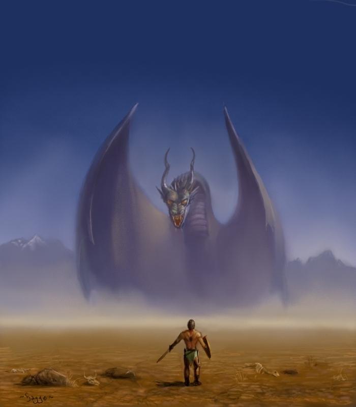 A big dragon problem by Hagge