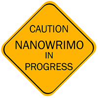 Caution nano sign by Hagge
