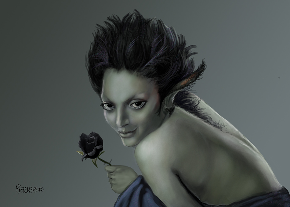 Black rose by Hagge