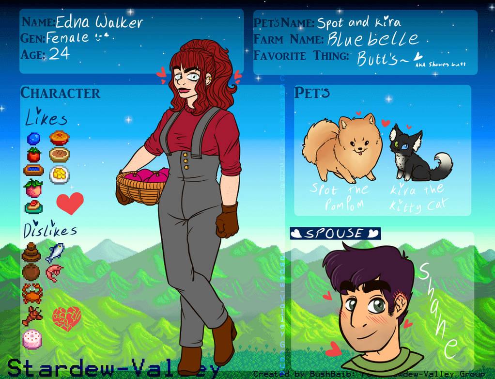 Stardew Valley App *Edna Walker* by EdnaBloodStone on DeviantArt