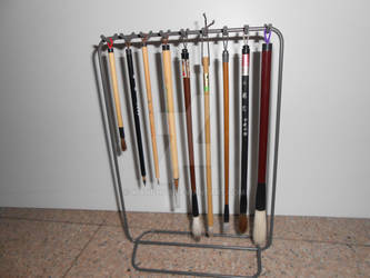 Brush holder stand from IKEA