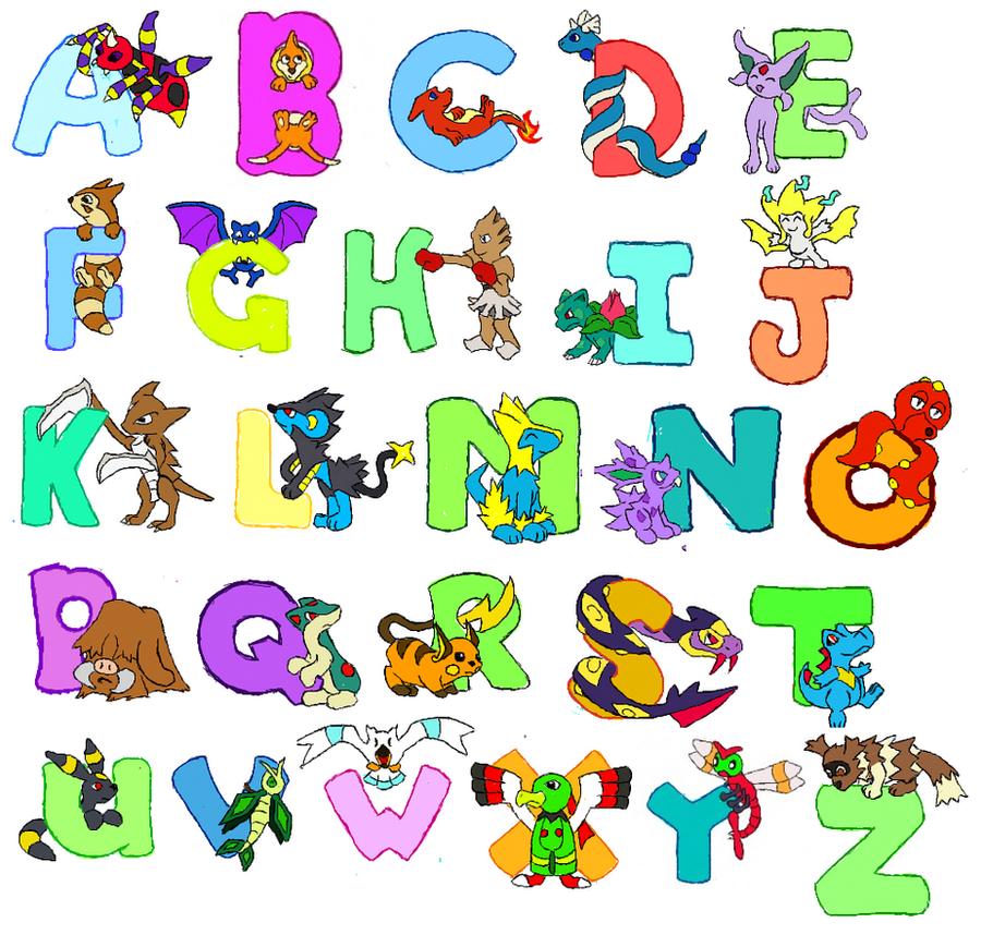 Complete Pokemon Alphabet 188905716