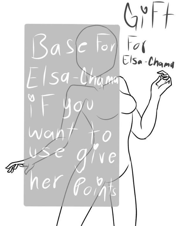 Base for (Elsa-chama) by CuddleKittyy