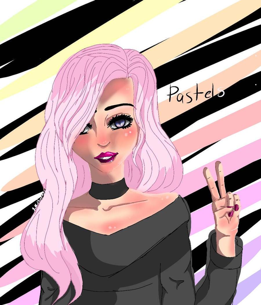 ART trade with the sweet PastelsAngel by CuddleKittyy