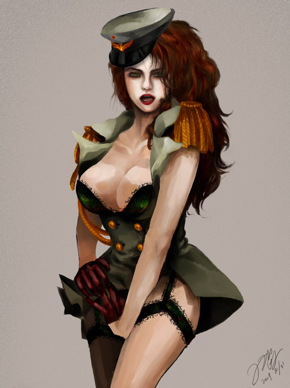 Concurrence Sexy army pin up girls