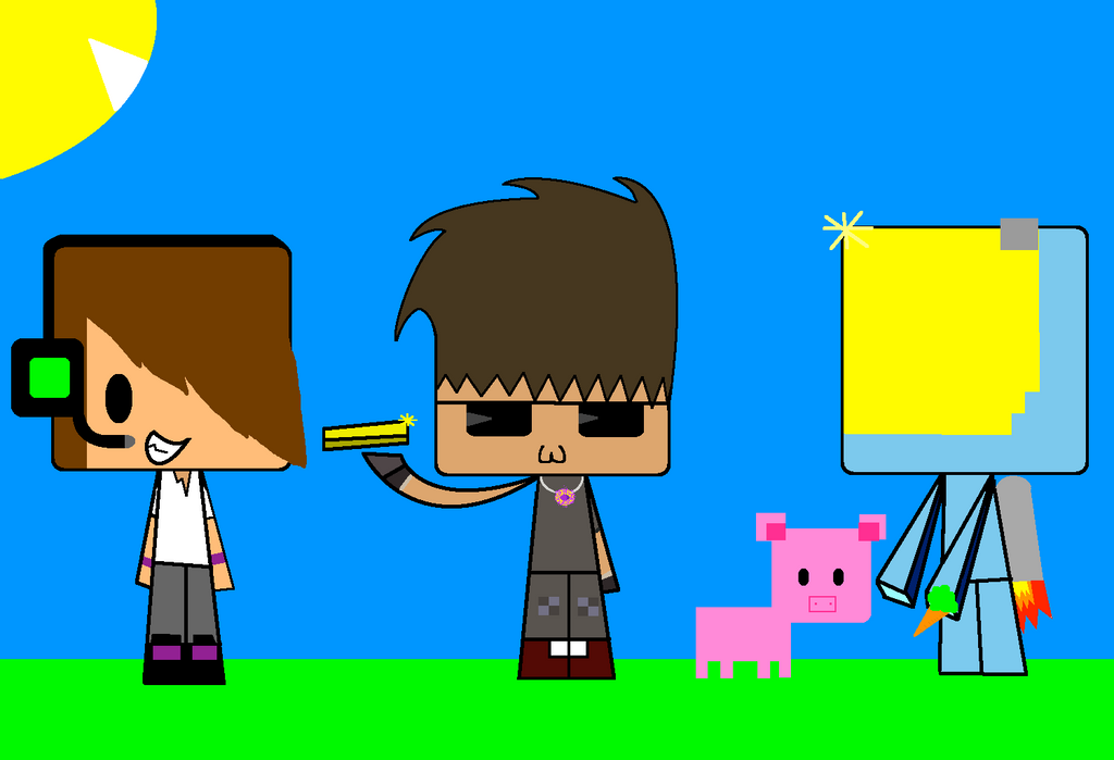 Skydoesminecraft and jason