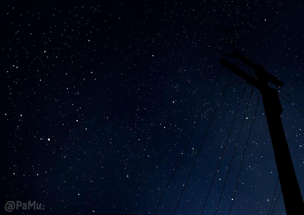 Starry sky by MieAka